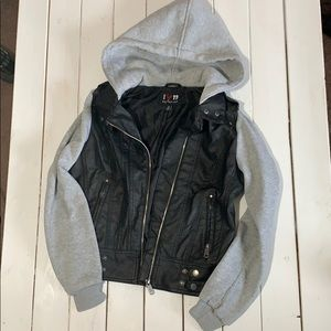 Medium Mock Leather Jacket - Size M